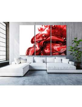 Beautiful Red Marble Canvas Art | Abstract Wall Art | Beauty Studio Decor | Luxury Wall Decoration |Marbling Canvas Print |Large Canvas Art by Etsy