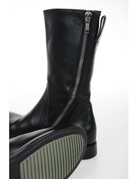 Leather Cop Zip Ankle Boots by Rick Owens