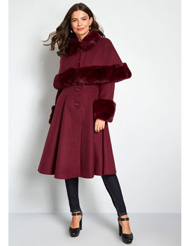Fine And Fancy Caped Coat by Hell Bunny