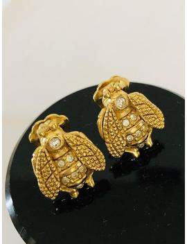 Christian Dior Vintage Bee Earrings by Etsy