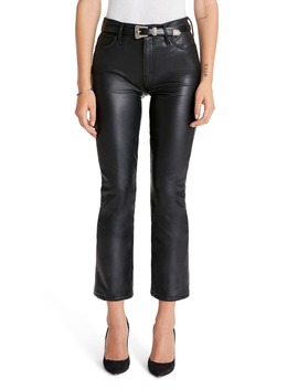The Insider High Waist Crop Bootcut Faux Leather Pants by Mother