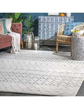 The Curated Nomad Ashbury Moroccan Area Rug   Grey   12' X 15' by The Curated Nomad