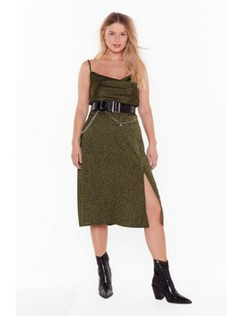 Animal On The Dancefloor Plus Midi Skirt by Nasty Gal