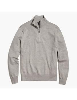 Cotton Half Zip Pullover by J.Crew
