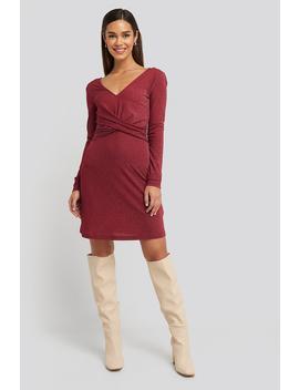 Glittery V Neck Dress Rood by Na Kd Party