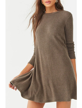Brushed Ribbed Mini Dress by Forever 21