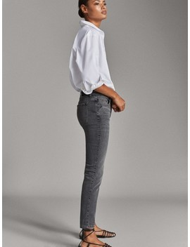 Jean Mid Rise Skinny Fit by Massimo Dutti