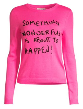 Connie Embellished Slogan Sweater by Alice + Olivia