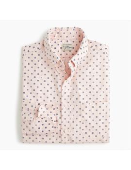 Slim Stretch Secret Wash Shirt In Organic Cotton Tiny Foulard by J.Crew