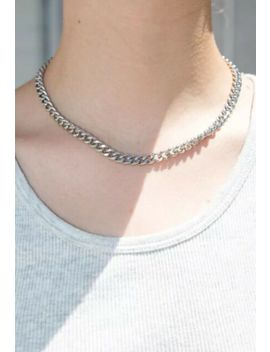 Brandy Melville Silver Cuban Link Necklace Nwt One Size by Ebay Seller