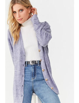 Marled Button Down Cardigan by Forever 21