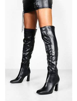Interest Heel Over The Knee Boots by Boohoo