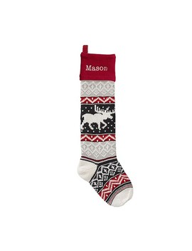 Moose Natural Fair Isle Stocking by Pottery Barn Kids