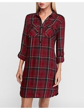 Plaid Shirt Dress by Express