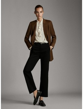 Chino Broek Flared Fit by Massimo Dutti