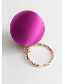 Satin Round O Ring Clutch Bag by & Other Stories