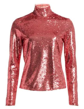 Joan Sequin Highneck Top by Cinq à Sept