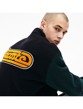 Men's Live Retro Dual Tone Wool Bomber by Lacoste