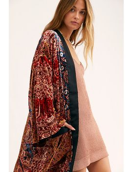 Crazy For You Velvet Duster by Free People