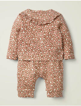 Cosy Jersey Set   Chalky Pink Mini Leopard by Boden