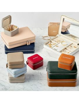 Small Travel Jewelry Case, Orange by Mark & Graham