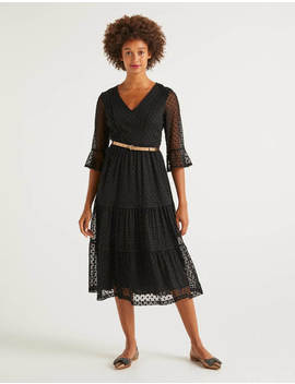 Rosanna Embroidered Dress   Black by Boden