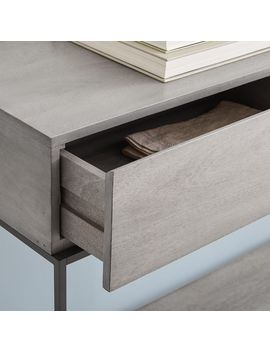Industrial Storage Console   Gray by West Elm