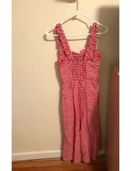 Reformation Red White Gingham Lavender Dress Size Small  New Condition by Reformation