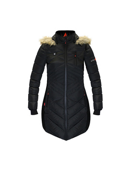 Action Heat Women's 5 V Battery Heated Puffer Jacket   Fur Hood by Action Heat