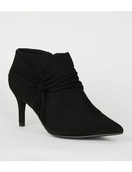 Wide Fit Black Twist Shoe Boots by New Look