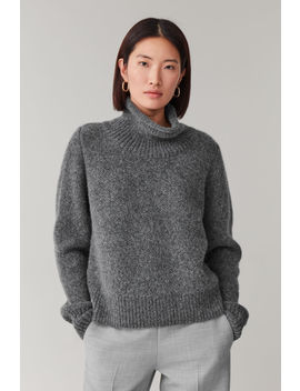 Moss Stitched Alpaca Yak Jumper by Cos