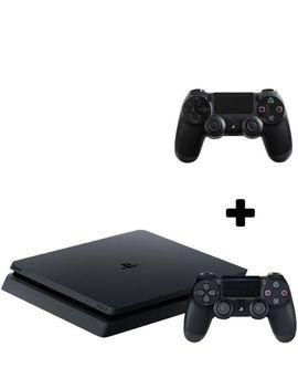 Consola Play Station 4 Slim 500 Gb Negru, Sony Ps4+Gamepad   Sony Play Station Dual Shock 4 Wireless by Sony Playstation