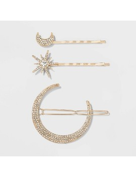 moon-and-star-crystal-hair-clips---a-new-day-gold by a-new-day