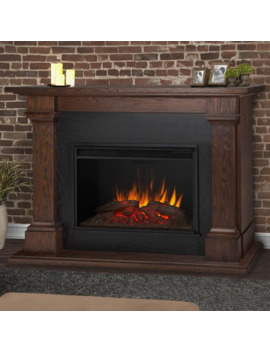 Calloway Chestnut Oak Grand Electric Fireplace   63 L X 17.25 W X 48 H by Real Flame
