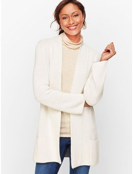 Double Knit Open Cardigan by Talbots