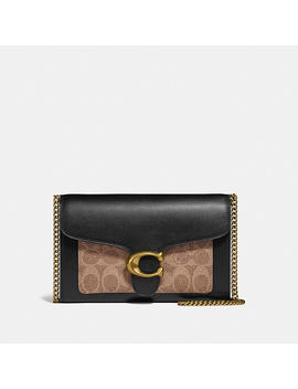 Tabby Chain Clutch In Colorblock Signature Canvas by Coach