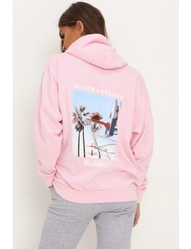Pink Bad Girl Oversized Hoodie by I Saw It First