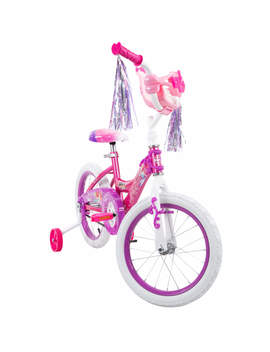"Disney Princess 16"" Girls' Bike With Doll Carrier, Huffy Ez Build by Huffy"