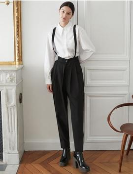 Tencel Black Suspender Pants by Pixie Market