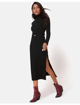 Lyra Midi Skirt In Black By Motel by Motel