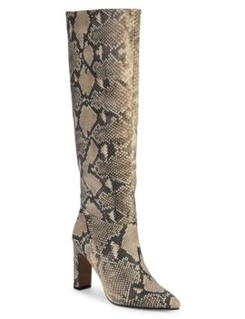 Snakeskin Print Tall Boots by Steven By Steve Madden