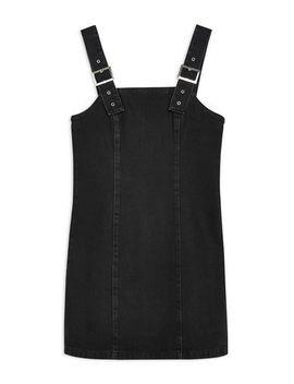 Buckle Strap Denim Dress by Topshop