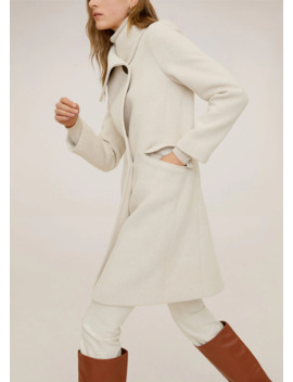 Wide Lapel Coat by Mango