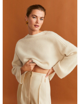 Cable Knit 100% Cashmere Sweater by Mango