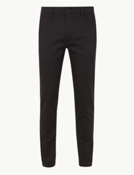 Skinny Fit Cotton Rich Travel Chinos by Marks & Spencer