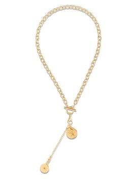 Eliza Double Medallion Necklace by Ellie Vail