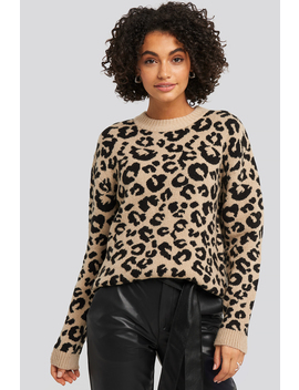 Animal Knitted Leo Sweater Wielokolorowy by Na Kd