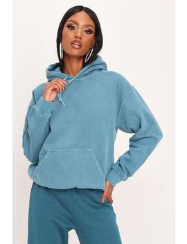 Teal Oversized Basic Hoodie by I Saw It First