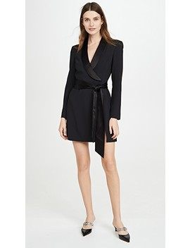 Mona Straight Shoulder Suit Dress by Alice + Olivia