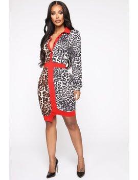 Dangerous Lover Leopard Midi Dress   Brown/Combo by Fashion Nova